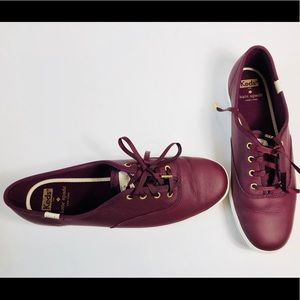 ce8ffab34a91 Keds Shoes - KEDS X KATE SPADE NEW YORK in Deep Cherry Leather